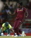 Stafanie Taylor is pumped up after taking a wicket, West Indies v South Africa, Women's World T20
