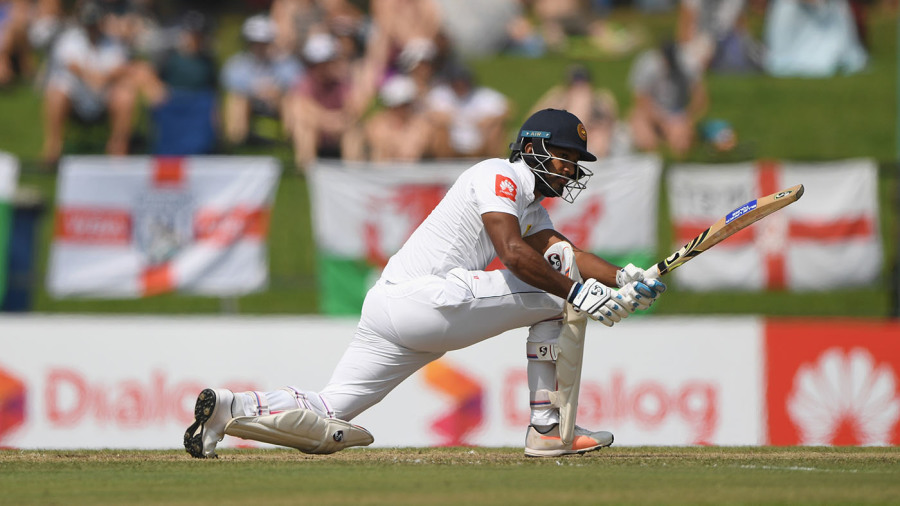 Dimuth Karunaratne settled into his innings