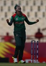 Jahanara Alam celebrates a wicket, Bangladesh v Sri Lanka, Women's World T20, Group A, St Lucia, November 14, 2018