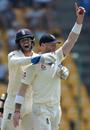 Big Ben strikes: Ben Stokes is mobbed by Ben Foakes, Sri Lanka v England, 2nd Test, Pallekele, 2nd day, November 15, 2018