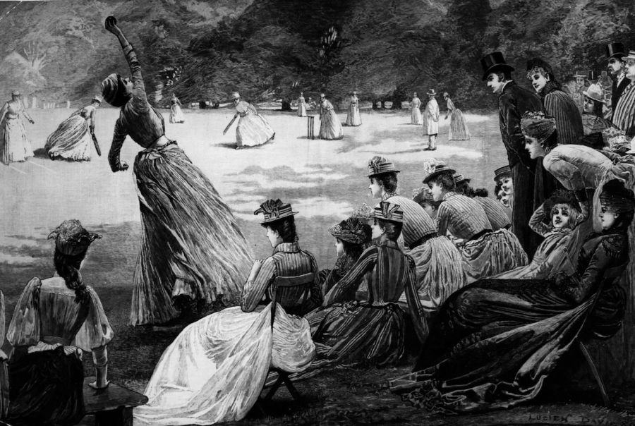 Does overarm bowling owe its origins to voluminous Victorian skirts?