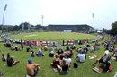 Spectators on the grass banks at Pallekele, Sri Lanka v England, 2nd Test, Pallekele, 2nd day, November 15, 2018