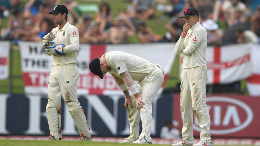 England endured a tough day in the field