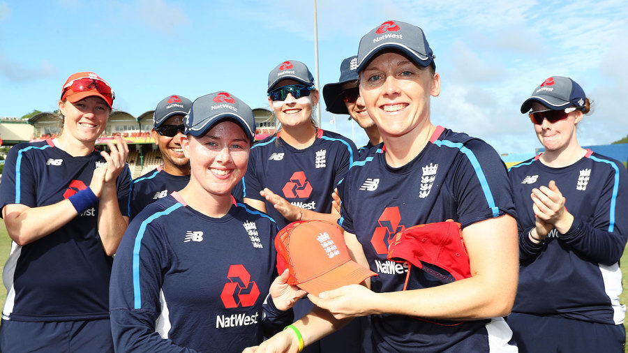 Linsey Smith receives her first England cap