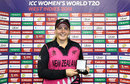 Jess Watkin was the Player of the Match for her 3 for 9, New Zealand v Pakistan, Women's World T20, Providence, November 15, 2018