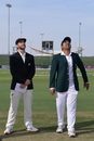 Dude, look, a flying saucer. Oh wait, that's just the coin for the toss, Pakistan v New Zealand, 1st Test, Abu Dhabi, 1st day
