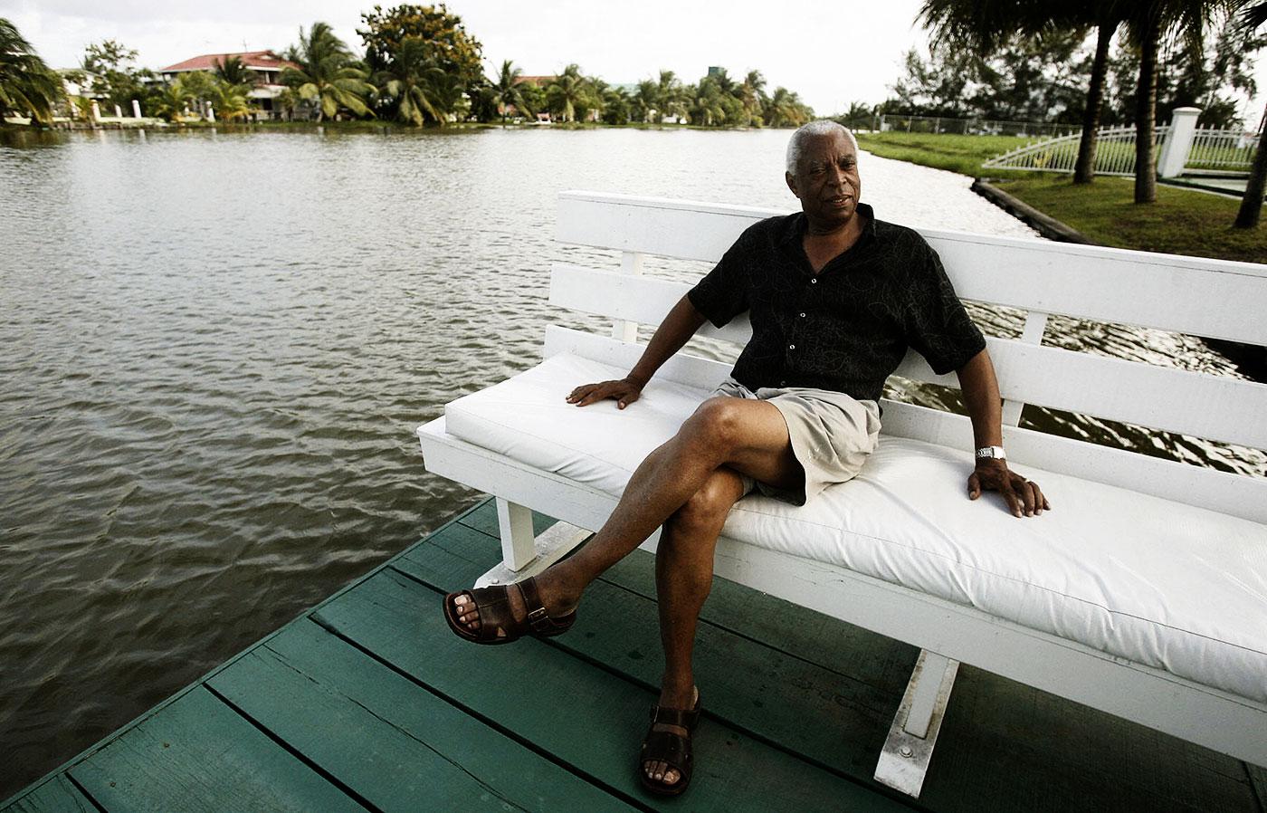 Lance Gibbs in Georgetown, Guyana