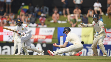 Keaton Jennings took a blinding catch at short leg