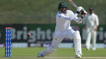 Azhar Ali slices one towards point