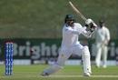 Azhar Ali slices one towards point, Pakistan v New Zealand, 1st Test, Abu Dhabi, 2nd day, November 17, 2018