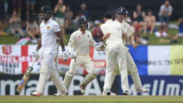 Keaton Jennings was involved in a brilliant relay catch to dismiss Dimuth Karunaratne