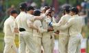 Moeen Ali is congratulated for the wicket of Roshen Silva, Sri Lanka v England, 2nd Test, Pallekele, 4th day, November 17, 2018