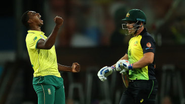 Lungi Ngidi picked up Aaron Finch