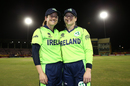 Isobel Joyce and Cecelia Joyce pose for a photo after calling time on their international career, Ireland v New Zealand, Group B, Women's World T20 2018, Guyana, November 17, 2018