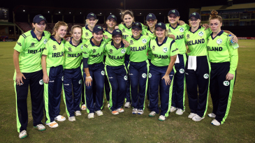 The Ireland women's team pose for a photo