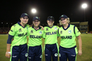 Clare Shillington, Isobel Joyce, Cecelia Joyce and Ciara Metcalfe sport a smile after retiring from international cricket, Ireland v New Zealand, Group B, Women's World T20 2018, Guyana, November 17, 2018