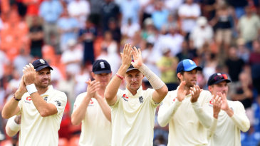 Joe Root leads the lap of honour after England's series win