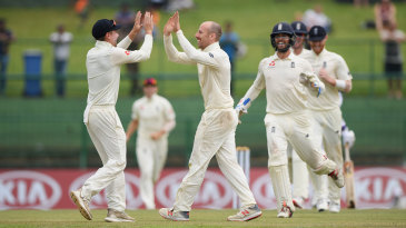 Jack Leach wrapped up victory with his maiden five-wicket haul