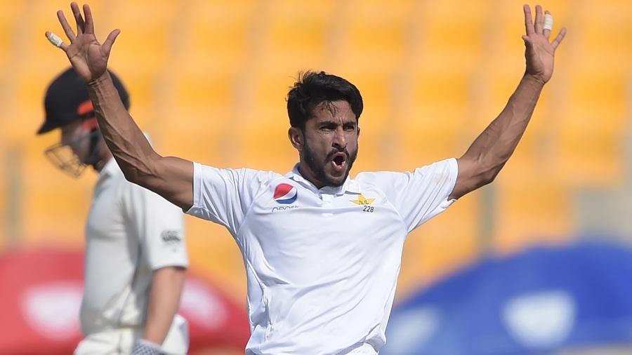 Hasan Ali brings out his trademark celebration