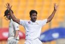 Hasan Ali brings out his trademark celebration, Pakistan v New Zealand, 1st Test, Abu Dhabi, 3rd day, November 18, 2018