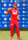 Fayyaz Butt claimed the Man of the Match award for his hat-trick and 5 for 22, Oman v Uganda, ICC World Cricket League Division Three, Al Amerat, November 18, 2018