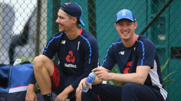 Rory Burns and Keaton Jennings at nets