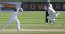 Henry Nicholls takes evasive action as Azhar Ali drives, 1st Test, Abu Dhabi, 4th day, November 19, 2018