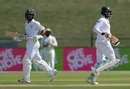 Azhar Ali and Asad Shafiq run between the wickets, 1st Test, Abu Dhabi, 4th day, November 19, 2018