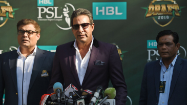 Wasim Akram speaks at the PSL 2019 draft