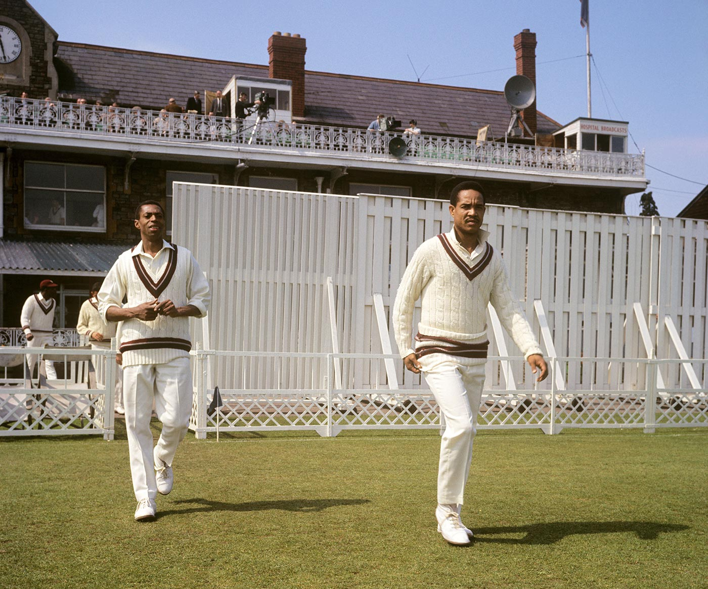 Walking out with Garry Sobers in a tour match in England in 1969