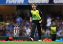 Adam Zampa exults after picking a wicket, Australia v India, 1st T20I, Brisbane, November 21, 2018