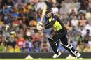 Marcus Stoinis clips one through midwicket, Australia v India, 1st T20I, Brisbane, November 21, 2018