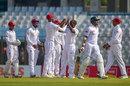 Kemar Roach celebrates Soumya Sarkar's wicket, Bangladesh v West Indies, 1st Test, Chattogram, 1st day