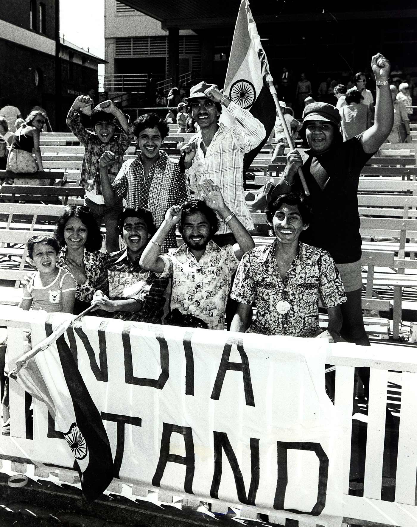 Indian fans watch their side in Sydney in 1978