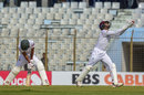Mohammad Mithun can't even look as Shane Dowrich completes a catch to dismiss him, Bangladesh v West Indies, 1st Test, Chattogram, 1st day