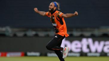 Imran Tahir goes off in celebration