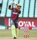 Gihahn Cloete targets the off side, Durban Heat v Tshwane Spartans, MSL 2018, Durban, November 21, 2018