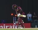 Deandra Dottin was undone by a sharp inswinger, West Indies v Australia, 1st semi-final, Women's World T20, November 22, 2018