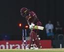 Deandra Dottin was undone by a sharp inswinger, West Indies v Australia, 1st semi-final, Women's World T20, November 22, 2018