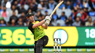 Chris Lynn swings across the line