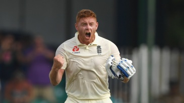 Jonny Bairstow roars after reaching a hundred