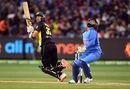 Glenn Maxwell plays the scoop, Australia v India, 2nd T20I, MCG, Melbourne, November 23, 2018