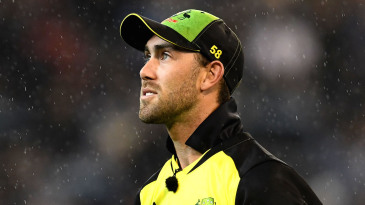 Glenn Maxwell walks off in the rain