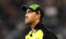 Glenn Maxwell walks off in the rain, Australia v India, 2nd T20I, MCG, Melbourne, November 23, 2018