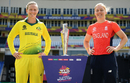 Meg Lanning and Heather Knight, with the biggest prize in women's T20 cricket, Antigua, November 23, 2018