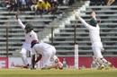 Kraigg Brathwaite has no reply to this Taijul Islam arm ball, Bangladesh v West Indies, 1st Test, Chattogram, 3rd day