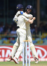 Ben Foakes celebrates with Keaton Jennings after another blinder at short leg, Sri Lanka v England, 3rd Test, Colombo, 2nd day, November 23, 2018
