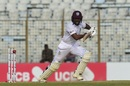 Jomel Warrican went for his shots in a valuable ninth-wicket stand, Bangladesh v West Indies, 1st Test, Chattogram, 3rd day
