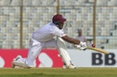 Sunil Ambris showed good composure during his 43, Bangladesh v West Indies, 1st Test, Chattogram, 3rd day