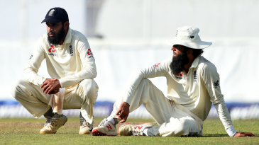 Adil Rashid and Moeen Ali take a breather